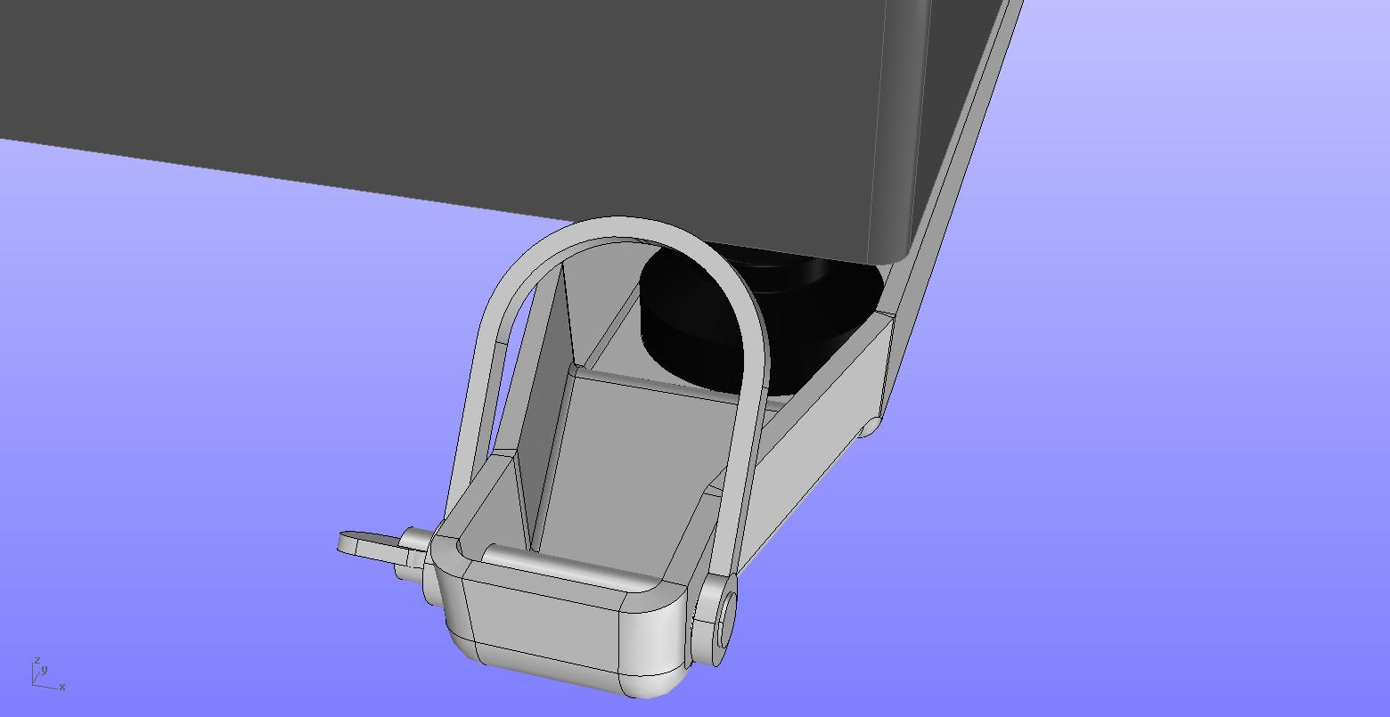 Isometric strength testing rig B