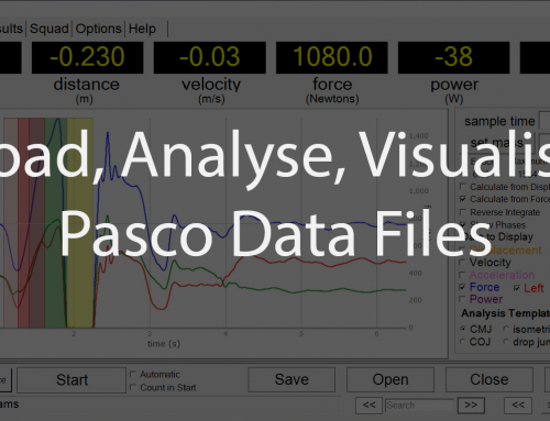Pasco Force Platform – Load Analyse Visualise Data Files with BMS