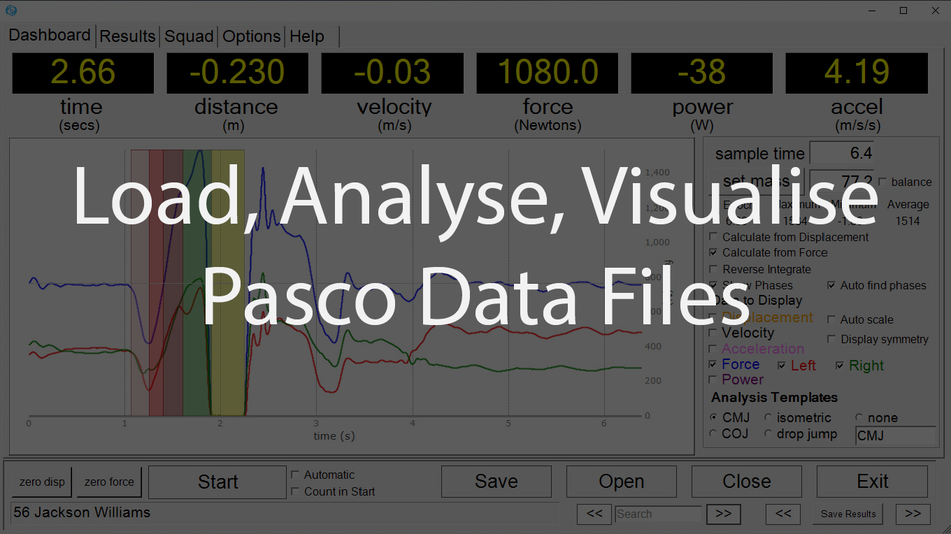 Pasco load and process